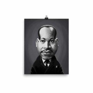 Martin Luther King (Celebrity Sunday) Art Print Poster