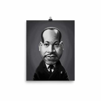 Martin Luther King (Celebrity Sunday) Art Print Poster