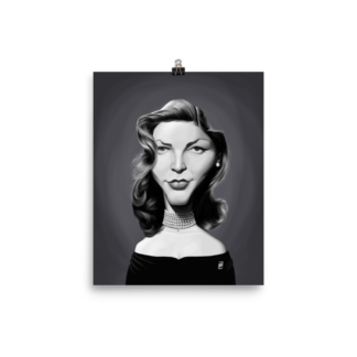 Lauren Bacall (Celebrity Sunday) Art Print Poster