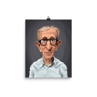 Woody Allen (Celebrity Sunday) Art Print Poster