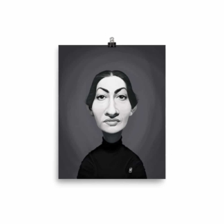 Maria Callas (Celebrity Sunday) Art Print Poster