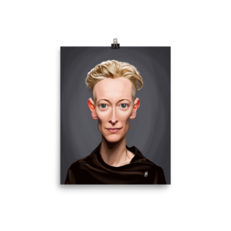 Tilda Swinton (Celebrity Sunday) Art Print Poster