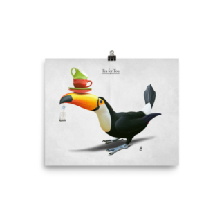 Tea for Tou (Animal Illustration) Art Print Poster