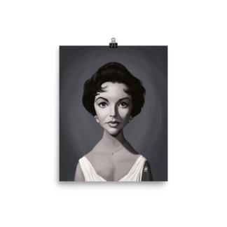Elizabeth Taylor (Celebrity Sunday) Art Print Poster