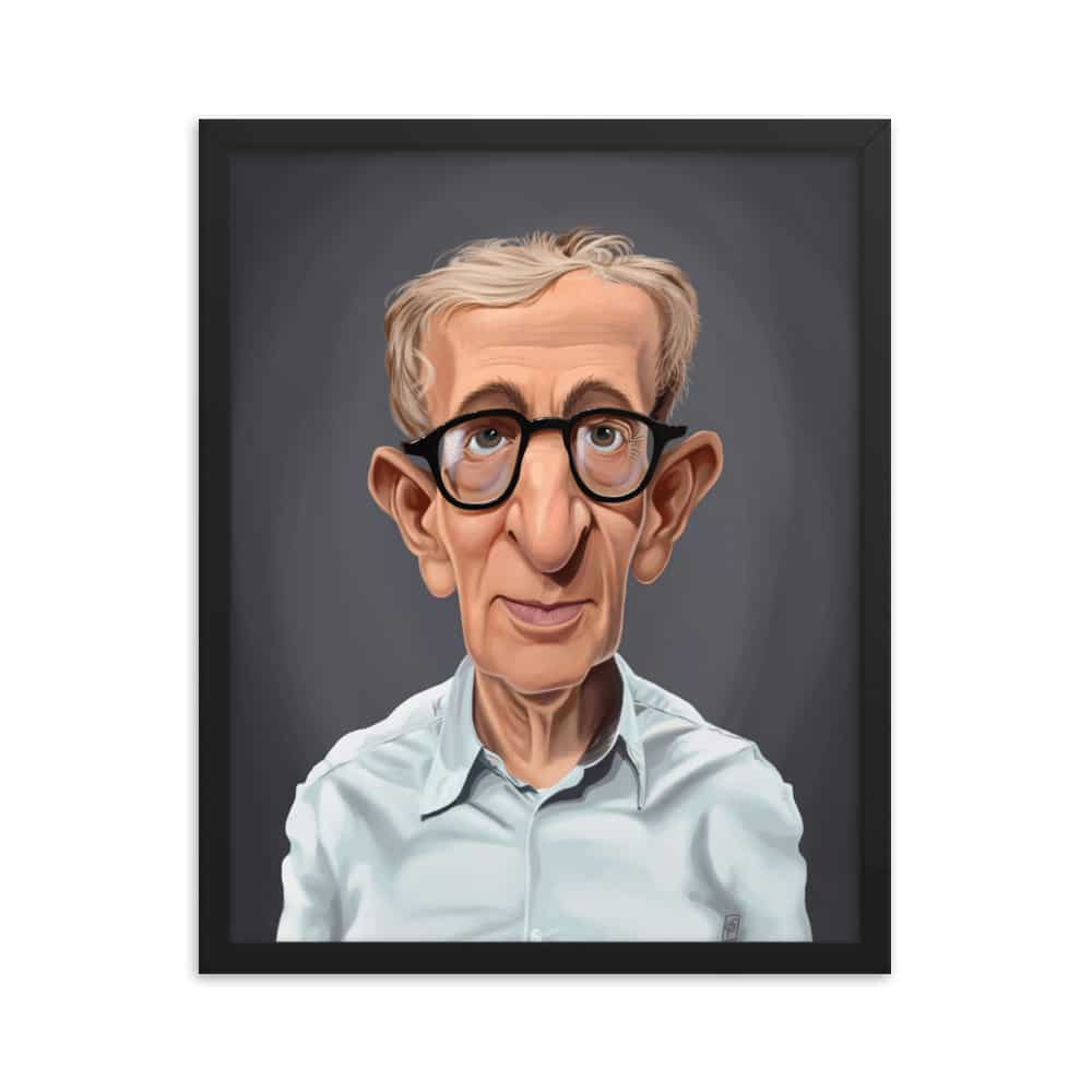 Woody Allen Celebrity Sunday Art Print Poster Rob Art Illustration