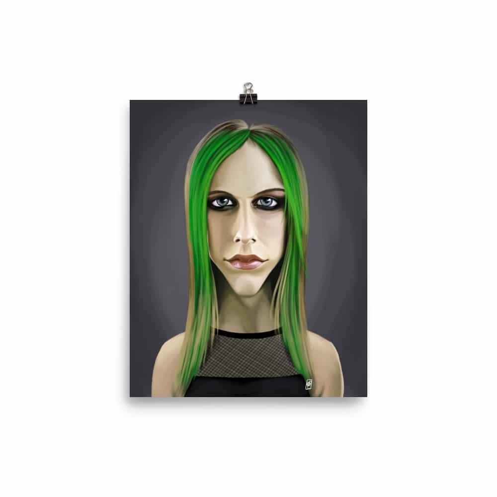 CANVAS Avril Lavigne Art print POSTER