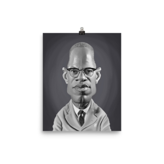 Malcolm X (Celebrity Sunday) Art Print Poster