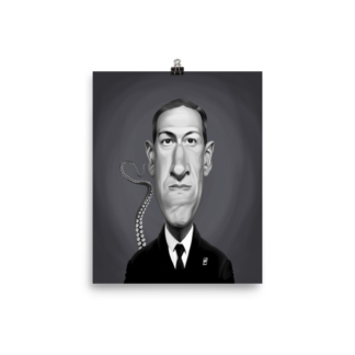 H.P Lovecraft (Celebrity Sunday) Art Print Poster