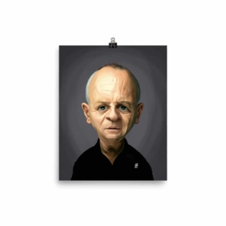Anthony Hopkins (Celebrity Sunday) Art Print Poster