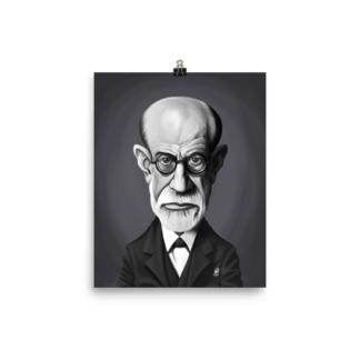 Sigmund Freud (Celebrity Sunday) Art Print Poster