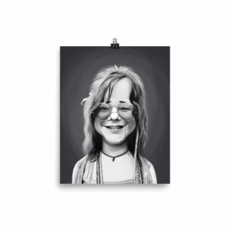 Janis Joplin (Celebrity Sunday) Art Print Poster