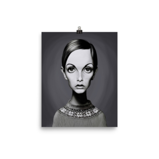 Twiggy (Celebrity Sunday) Art Print Poster