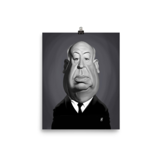 Alfred Hitchcock (Celebrity Sunday) Art Print Poster