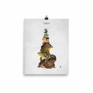 Toadstool (Animal Illustration) Art Print Poster