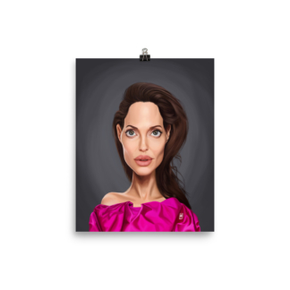 Angelina Jolie (Celebrity Sunday) Art Print Poster