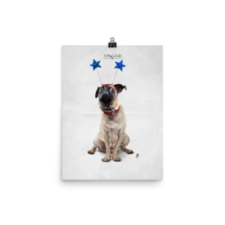 A Pug's Life (Animal Illustration) Art Print Poster