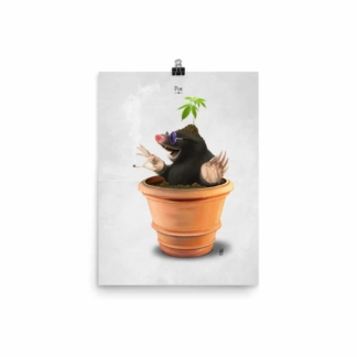 Pot (Animal Illustration) Art Print Poster