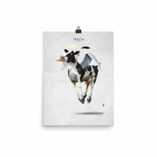 Holy Cow (Animal Illustration) Art Print Poster