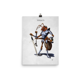 Soldiering On (Animal Illustration) Art Print Poster