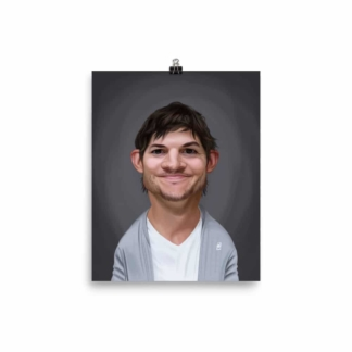 Ashton Kutcher (Celebrity Sunday) Art Print Poster