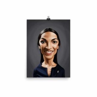 Alexandria Ocasio-Cortez (Celebrity Sunday) Art Print Poster