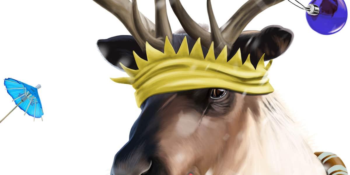 Reindeer Head Detail