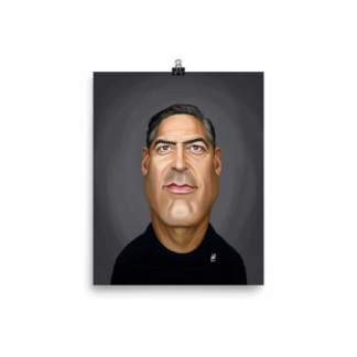 George Clooney (Celebrity Sunday) Art Print Poster