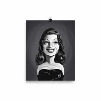 Rita Hayworth (Celebrity Sunday) Art Print Poster