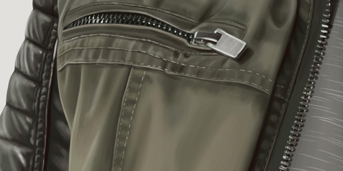 Zip and Stitching Detail