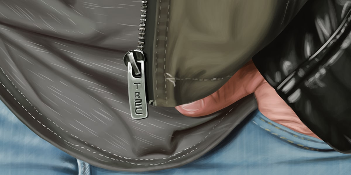 Zip and Jean Detail