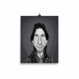 Leonard Cohen (Celebrity Sunday) Art Print Poster