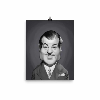 Lou Costello (Celebrity Sunday) Art Print Poster