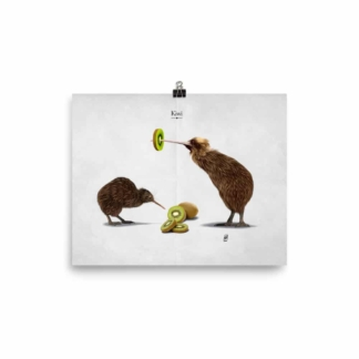 Kiwi (Animal Behaviour) Art Print Poster