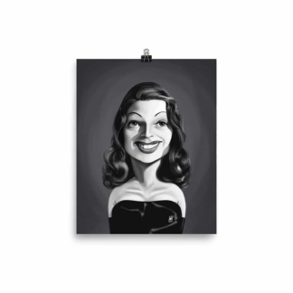 Rita Hayworth (Celebrity Sunday) Art Print Poster