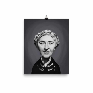 Agatha Christie (Celebrity Sunday) Art Print Poster