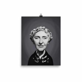 Agatha Christie (Celebrity Sunday) Art Print Poster