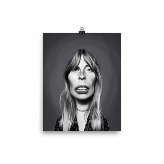 Joni Mitchell (Celebrity Sunday) Art Print Poster