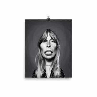 Joni Mitchell (Celebrity Sunday) Art Print Poster