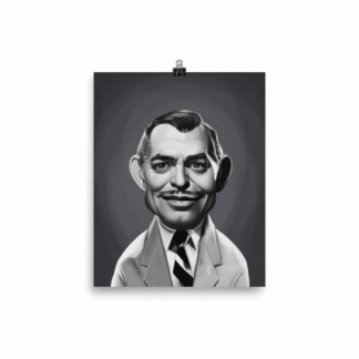Clark Gable (Celebrity Sunday) Art Print Poster