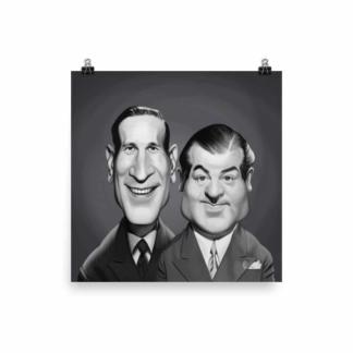 Abbott and Costello (Celebrity Sunday) Art Print Poster